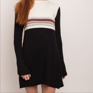 NWT Free People Colorblock Sweater Dress Cotton